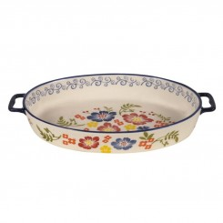 Fuente Porcelana Floreada Oval