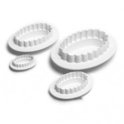 Cortantes de galletitas Oval Garrett Frill