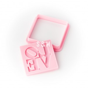 Cortante Relieve Love 3D