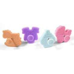 Cortantes de galletitas plungers con Stamp Love SilikoMart®
