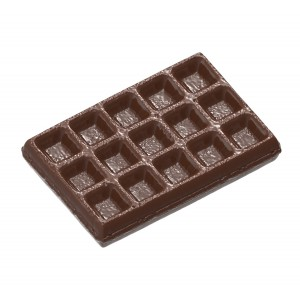 Molde para chocolate Brussels Waffle Small Chocolate World