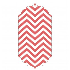 Base rectangular 32 cm x 15 cm Zig Zag Red