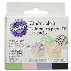 Colorantes liposoloblues en gel para chocolate Kit Garden Witon®