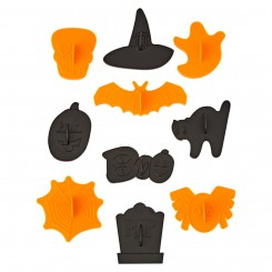 Set de 10 Cortantes de galletitas con stamp halloween Wilton®