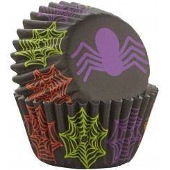 Set de 100 mini pirotines spider de halloween Wilton®